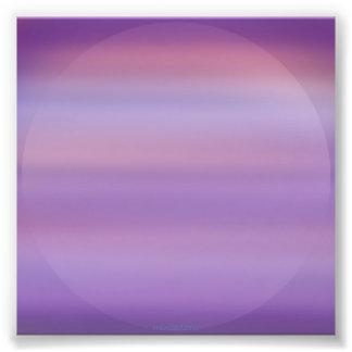 Foto púrpura de la niebla de la luna cojinete