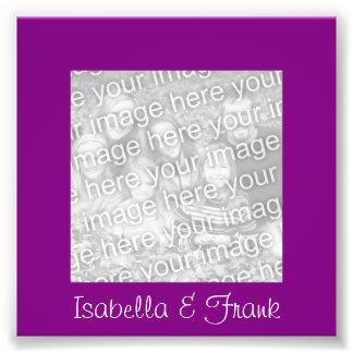 Foto púrpura del marco