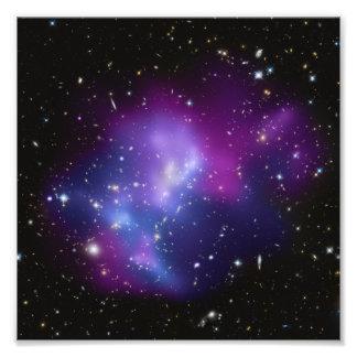 Foto púrpura del racimo de la galaxia