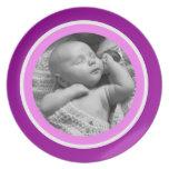 Foto púrpura y rosada plato de comida