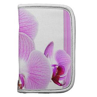 Foto radiante del primer de la orquídea con el planificadores