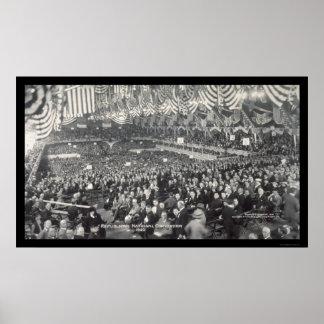 Foto republicana 1920 de Chicago, IL Posters