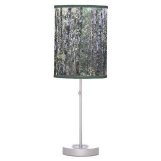 Foto reservada de maderas lámpara de mesa