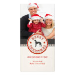 Foto retra del personalizado del perro del galgo d tarjetas con fotos personalizadas