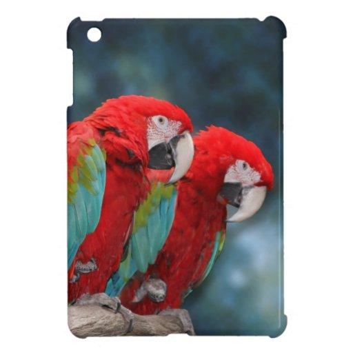 Foto roja brillante de la fauna de los pares de lo iPad mini cárcasas