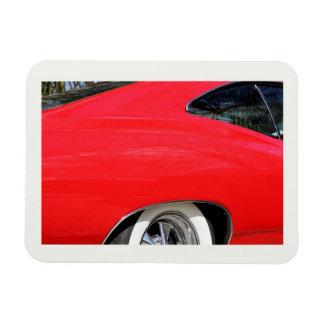 Foto roja clásica 1965 del detalle del impala de imanes rectangulares