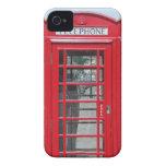 Foto roja clásica de la cabina de teléfonos iPhone 4 carcasa