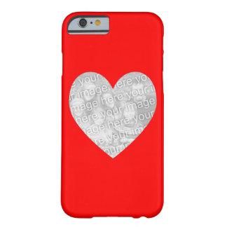 Foto roja de la forma del corazón funda para iPhone 6 barely there
