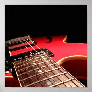 Foto roja de la guitarra eléctrica - PERSONALICE Póster