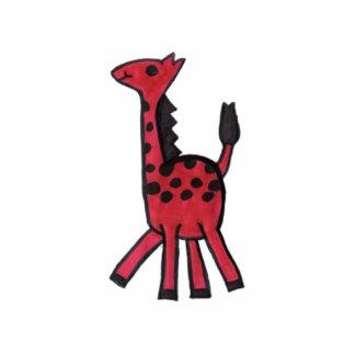 Foto roja de la jirafa escultura fotografica