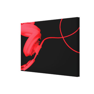 Foto roja de la música EDM de la casa del disc Impresión En Lona Estirada