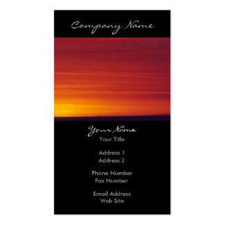 Foto roja de la puesta del sol tarjetas de visita