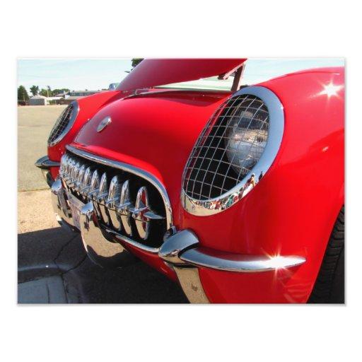 Foto roja del ~ del Corvette Fotografías