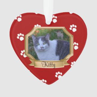 Foto roja del mascota de las impresiones de la