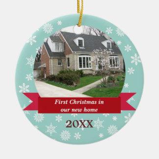 Foto roja del personalizado del trullo de la ornamento de navidad