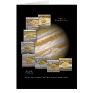 Foto roja del telescopio de Hubble del punto de Tarjeta De Felicitación