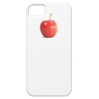 Foto roja divertida fresca del icono de la manzana funda para iPhone 5 barely there