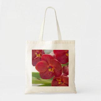 Foto roja elegante de las orquídeas bolsas