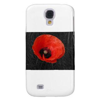 Foto roja Foto de la amapola de Mohnblume Funda Para Galaxy S4