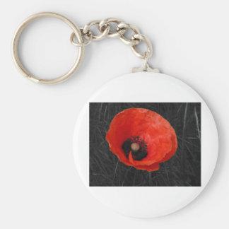 Foto roja Foto de la amapola de Mohnblume Llaveros Personalizados