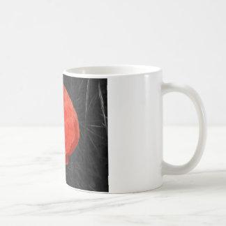 Foto roja Foto de la amapola de Mohnblume Taza Básica Blanca