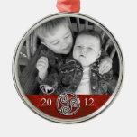 Foto roja Ornam del navidad de Triskelion del nudo Adornos De Navidad