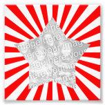 Foto roja y blanca del marco de Starburst