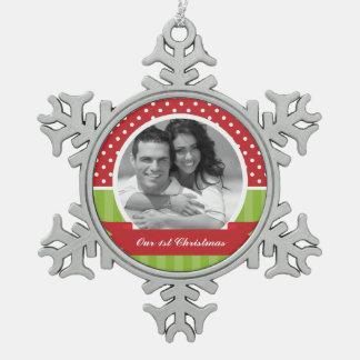 Foto roja y verde del personalizado del navidad