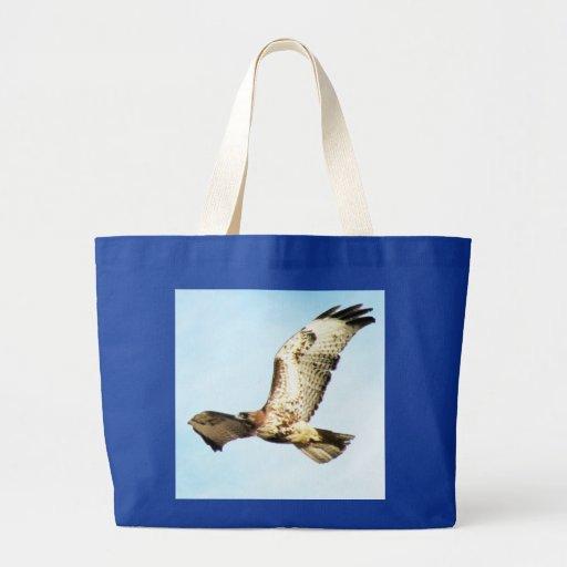 foto Rojo-atada del halcón en vuelo Bolsa Tela Grande