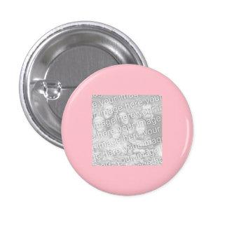 Foto rosada cuadrada de la frontera pin redondo de 1 pulgada