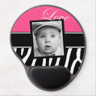 Foto rosada Mousepad de la cebra Alfombrilla Gel