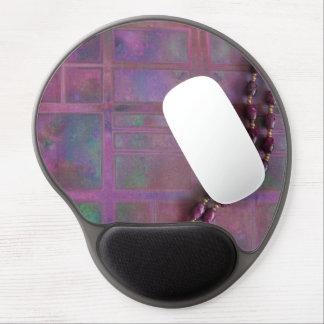 Foto rosada púrpura hermosa de la tela y del colla alfombrillas con gel