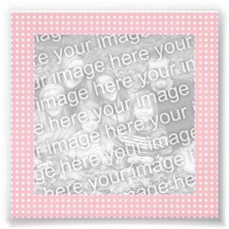 Foto rosada y blanca del marco de los puntos
