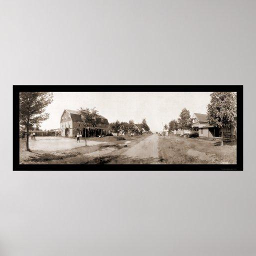 Foto rural 1913 de Ginebra NY Póster