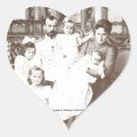 """Foto rusa """"Imperator Nikolay 2"""" del vintage Pegatina En Forma De Corazón"""