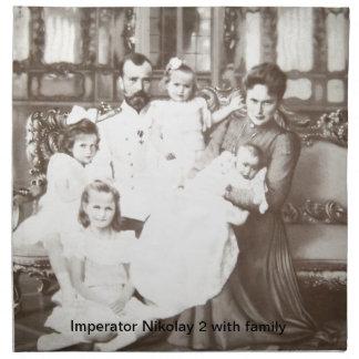 """Foto rusa """"Imperator Nikolay 2"""" del vintage Servilleta Imprimida"""