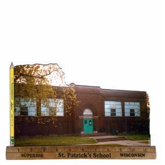 Foto Sculp de la escuela de St Patrick del superio Fotoescultura Vertical