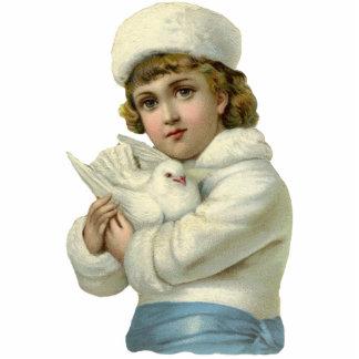 Foto Sculpure del niño del vintage Fotoescultura Vertical