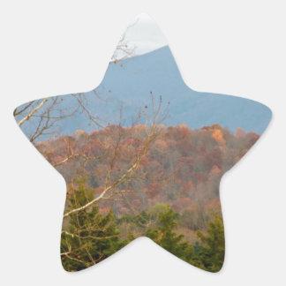 Foto Shenandoah del paisaje de Blue Ridge Pegatina En Forma De Estrella