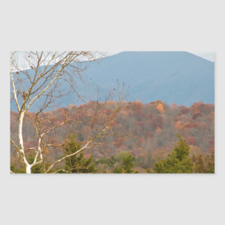 Foto Shenandoah del paisaje de Blue Ridge Pegatina Rectangular