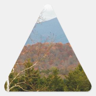 Foto Shenandoah del paisaje de Blue Ridge Pegatina Triangular