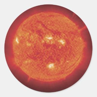 Foto Sun del espacio Pegatina Redonda