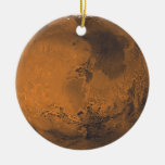 Foto superficial del planeta de Marte Adorno Navideño Redondo De Cerámica