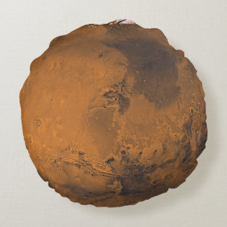 Foto superficial del planeta de Marte Cojín Redondo