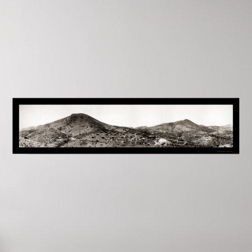 Foto superior 1909 de la explotación minera de AZ Impresiones
