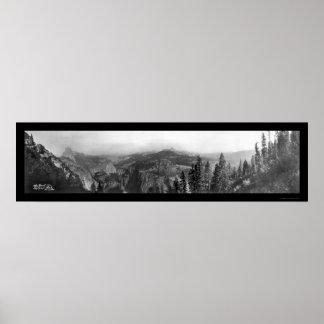 Foto superior 1911 de Yosemite CA Póster