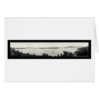 Foto superior 1912 del lago Saranac Tarjeta De Felicitación