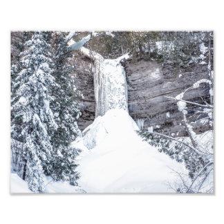 Foto superior encima congelada caídas de Munising Fotografías