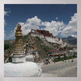 Foto tibetana:  El palacio Potala, Lasa, Tíbet Posters