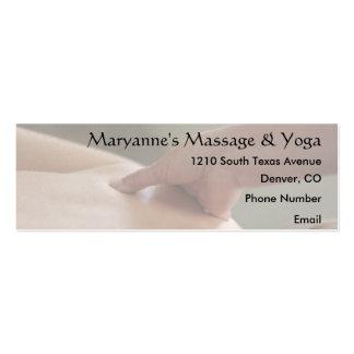 Foto trasera del masaje - pulgar tarjetas de visita mini